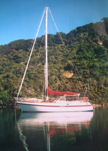 Strong steel Ewbank 40 sailing yacht for sale