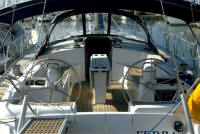 Alfa Yacht - The cockpit is very roomy, with twin steering positions