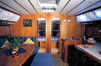 Alfa Yachts - The interior is finished in warm wood