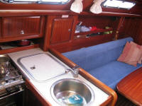 Bavaria 34 sailing yacht interior - The galley