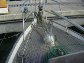H28 Hereschoff designed boat for sale - foredeck