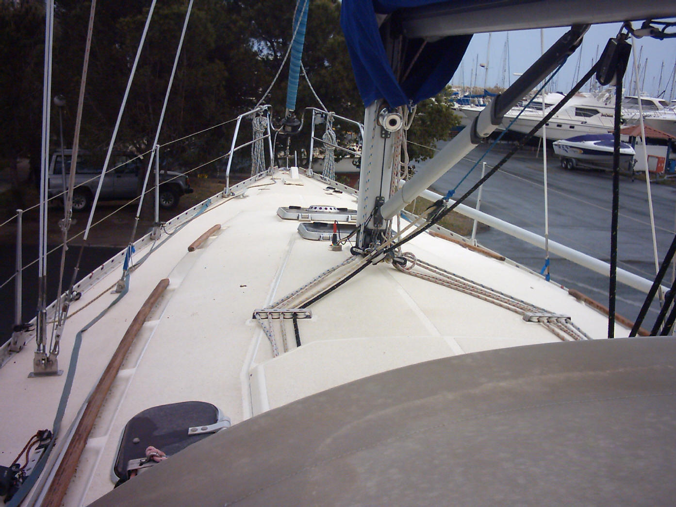 Moody 336 for sale - foredeck click to enlarge. Improvements